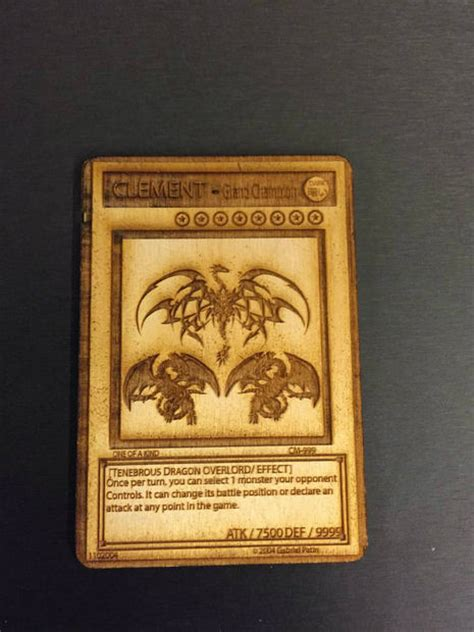 best back cards wooden yu gi oh card or any card you like