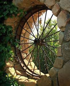 wagon wheel garden decor japanese garden design