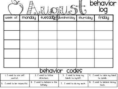 monthly behavior calendar template monthly behavior charts books worth reading