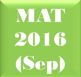Mat For Mba Date by Management Aptitude Test Mat Sep 2016 Career