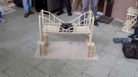 imagenes de puentes hechos de palitos puente ecol ensayo del segundo puente a escala elaborado con palitos de helado youtube