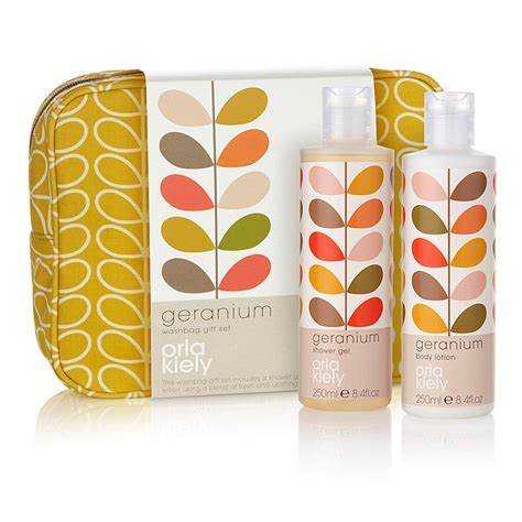 Matching Abacus Wallet Set By Orla Kiely by Orla Kiely Wash Bag Gift Set In Geranium Gifts Cuckooland