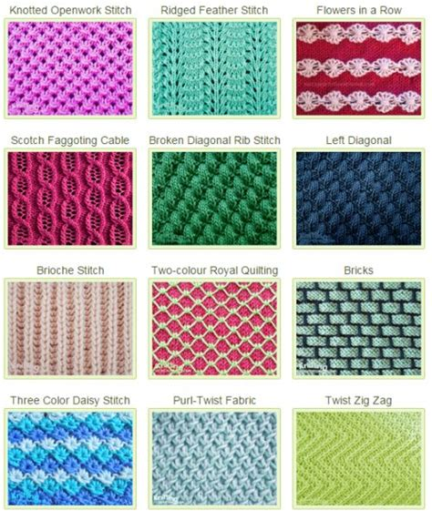 knitting pattern names 1000 images about knitting stitch patterns on pinterest