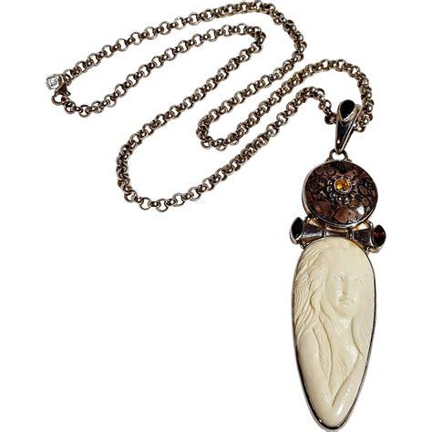 sajen sterling silver goddess gemstone necklace 999 silver