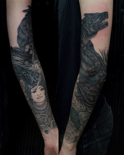 tattoo arm black sleeve black wolf tattoo design of tattoosdesign of tattoos
