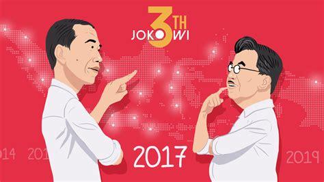 Jokowi Jk rapor tahun ketiga jokowi jk