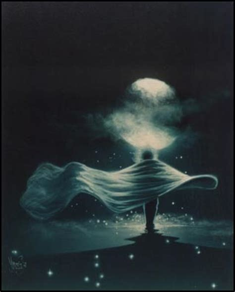 Walking To The Moon mario baert illustration celestial