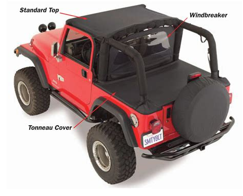 standard jeep wrangler smittybilt standard top for 97 06 jeep wrangler tj quadratec