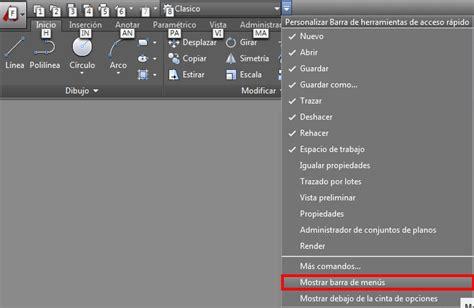 barra de herramientas superior recuperar el estilo visual cl 225 sico en autocad 2016