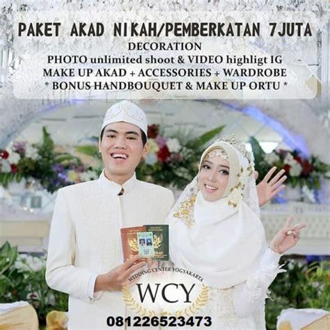 paket nikah  normal pandemi corona pusat wedding organizer yogyakarta
