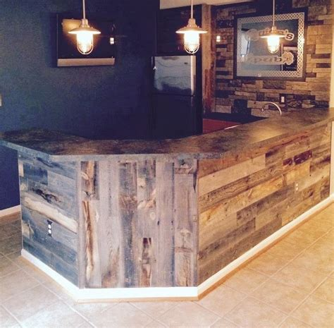 Handmade Shoo Bar - bar made out of reclaimed barn wood future house ideas