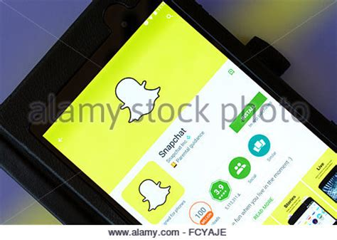 snapchat for android tablets snapchat app stock photos snapchat app stock images alamy