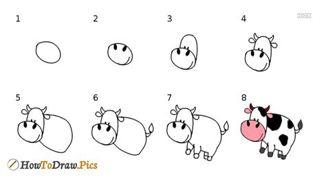 How To Draw A Cow Step By Step