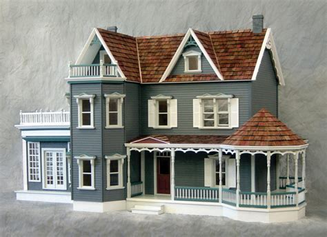 wooden doll house kit harborside mansion dollhouse kit minimedollhouses
