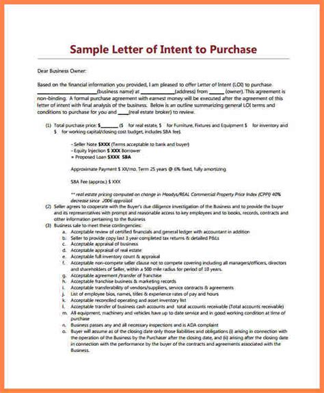 Letter Of Intent To Finance A Project 10 Letter Of Intent For Real Estate Purchase Template Purchase Agreement