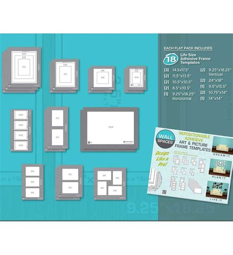 life size picture templates set of 18 in furniture