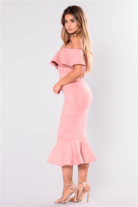 Dress Pretty Dusty Pink aliana suede dress dusty pink