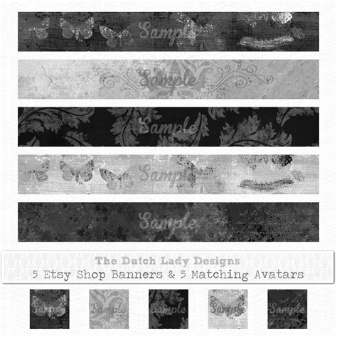 Etsy Shop Banners Avatars The Dutch Lady Designs Free Etsy Shop Banner Templates
