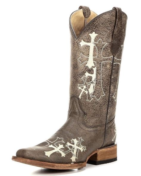 corral 12 quot square side cross toe cowboy western