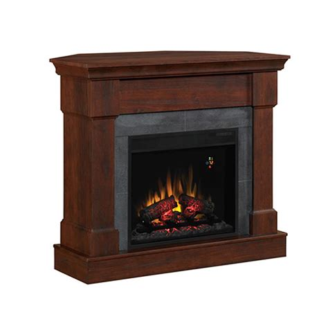 brown electric fireplace object moved