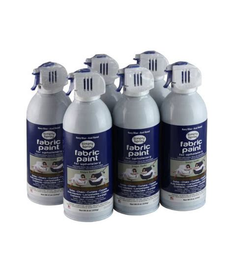 simply spray upholstery fabric spray paint 6 pack navy