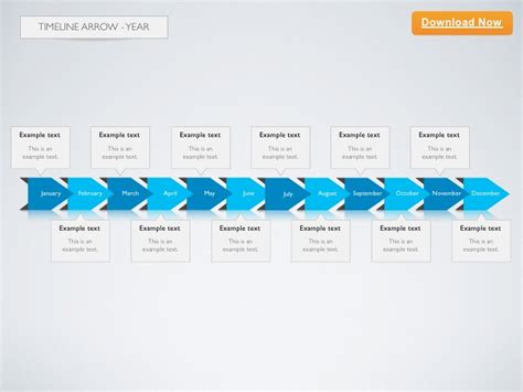 keynote template timeline arrow 2d year