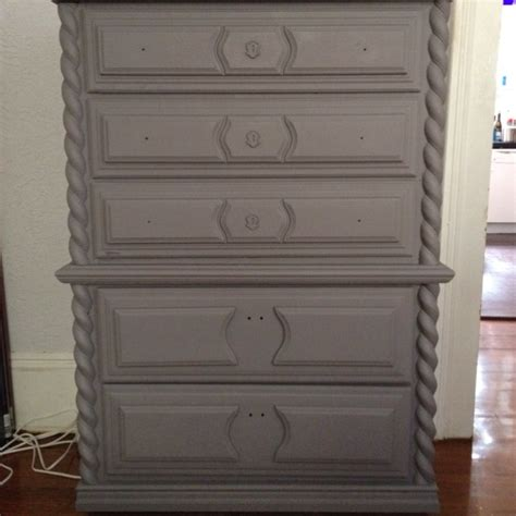 my dresser with the base coat on using the rustoleum