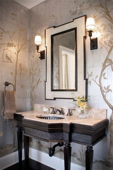 Powder Room Interior Design - chinoiserie formal powder room traditional powder room cleveland by house of l interior