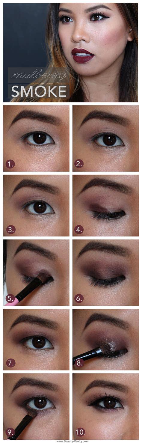 eyeliner tutorial asian eyes beauty vanity mulberry smoke dark lips and berry lids
