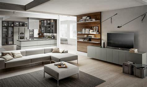 cucina soggiorno moderno cucina a vista scegli mobili uguali anche per il