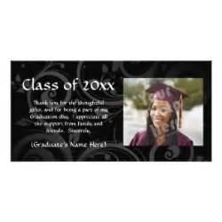 graduation thank you photo cards graduation thank you photo card templates zazzle