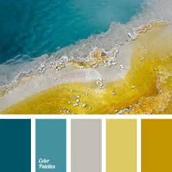 what colors go with yellow turquoise and gray color palette ideas