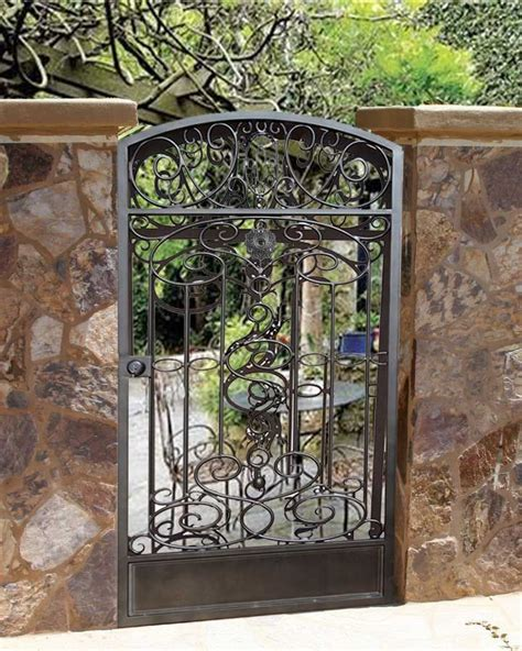 metal backyard gates wrought iron garden gate through the garden gate pinterest