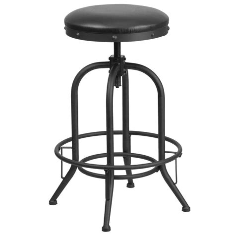 black swivel counter height stools flash furniture adjustable height black powder coat swivel