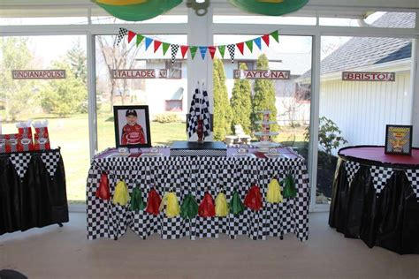Nascar Decorations by Nascar Race Car Birthday Ideas Photo 1 Of 17