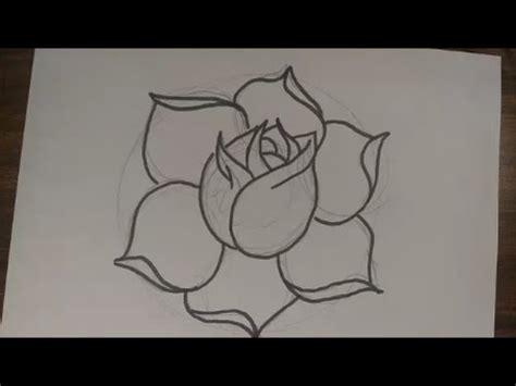 como desenhar uma rosa simples passo a passo youtube