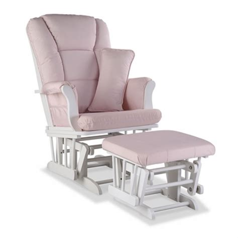 pink glider and ottoman storkcraft tuscany custom glider and ottoman in white and