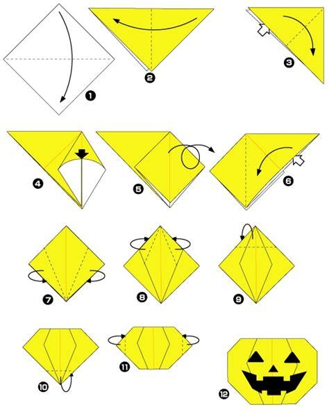 Origami Pumkin - pumpkin from waterbomb base origami and kirigami