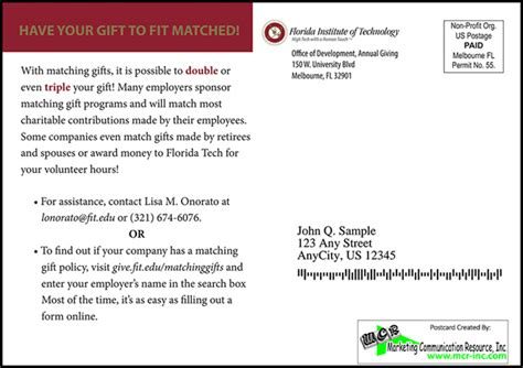 Thank You Letter For Matching Donation Use Direct Mail To Feature Matching Gifts The Donation