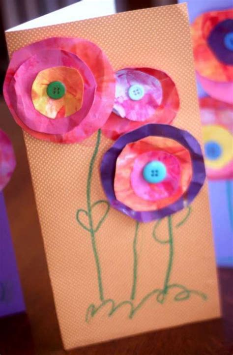 mothers day cards for preschoolers to make s day craft for to make flower cards