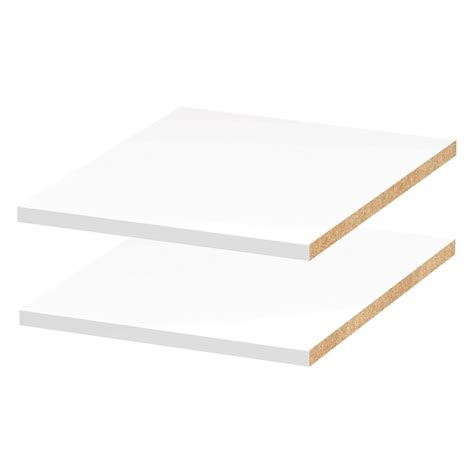 White Melamine Shelf by Melamine White Shelf Board Common 3 4 In X 15 3 4 In X