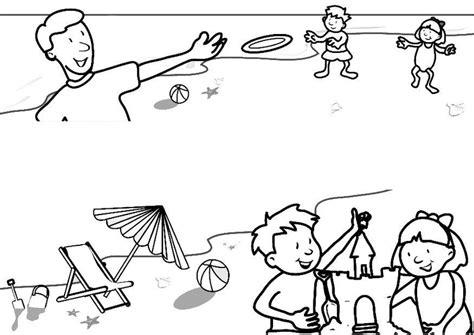 Imagenes De Las Vacaciones Para Colorear | dibujo para colorear vacaciones en la playa img 7313
