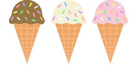 ice cream clipart chocolate vanilla and strawberry ice cream cones free