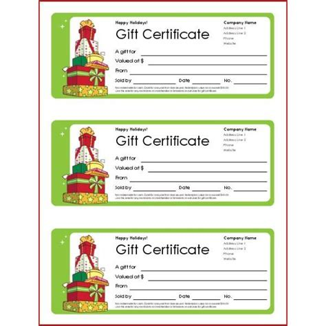 voucher booklet template free printable gift certificate templates