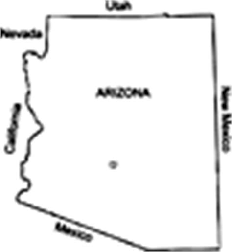arizona map coloring page usa states state of arizona coloring pages