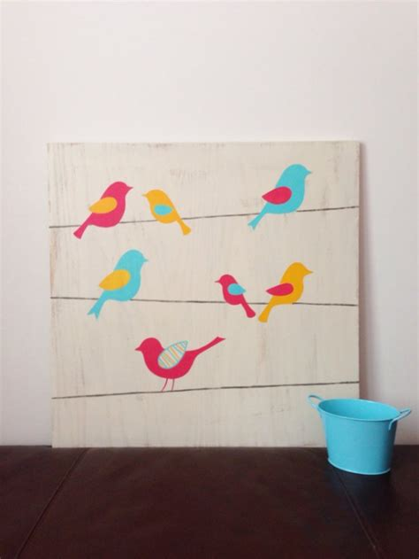 Bird Decor For Nursery Birds On A Wire Bird Nursery Woodland Nursery Wood Wall Aftcra
