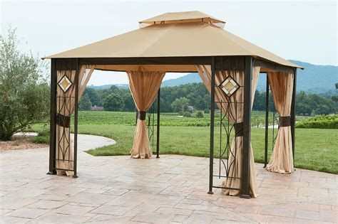 10x12 gazebo grand resort 10x12 gazebo with glass panels limited