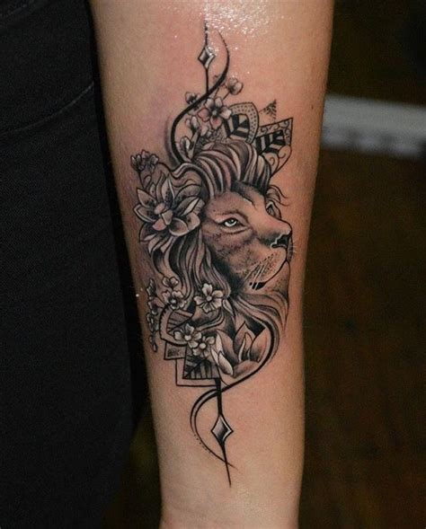 lion flower tattoo best 25 tattoos ideas on