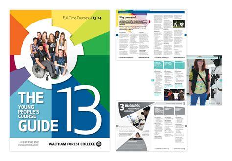 leaflet design courses education sector exles essex from wisdom design