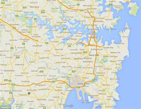 map of australia with sydney map of sydney suburbs sydney map suburbs australia